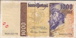 0169 BILLETE PORTUGAL 1000 ESCUDOS CIRCULADO - Portugal