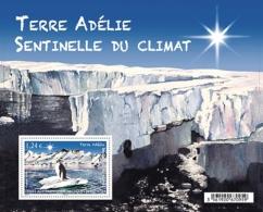 TAAF 2015 Block MNH Terre Adélie  Sentinelle Du Climat   Manchot Penguin - Protezione Dell'Ambiente & Clima