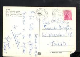 Q258 BEL ANNULLO STORIA POSTALE: ANNO MARCONIANO 1975 SU CARTOLINA ROMA, SAN PIETRO DAL TEVERE - 6. 1946-.. Repubblica