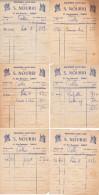 6 Factures En Anciens Francs De La Boucherie Saint-Jean - S. Nourri - 47 Rue Guynemer - Elbeuf 76500 - A Mme Calle - - Alimentaire