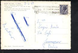 Q263 TARGHETTA, PREMIO INTERNAZIONALE DI CARDIOLOGIA - CITTA DI SAN REMO - SU CARTOLINA 1961 - Altri