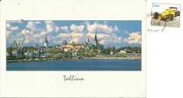 EESTI  ESTONIA  TALLINN  Panorama  Nice Stamp  Race Car - Estonia