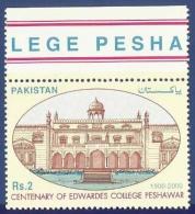 Pakistan 2000 MNH 100 YEARS EDWARDES COLLEGE PESHAWAR BUILDING EDUCATION - Pakistan
