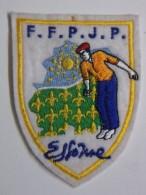 Ecusson Tissu - Feutrine Brodée - ESSONNE - FFPJP - PETANQUE - Département 91 - Ecussons Tissu