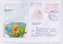 Military Cover Mail Used Post KFOR Ukraine OVERPRINT Yugoslavia - Militaria