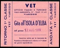 VET Viareggio, Gita All`Isola D`ELBA, 17.8.1955, 1 Classe - Europa
