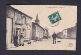 Villers Sur Meuse (55) - Grande Rue ( Animée Commerce épicerie Phot. Marchal Verdun ) - Other Municipalities