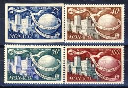 Monaco Posta Aerea 1949 - 50 Serie N. 45-48 MNH (45 NON DENTELLATO) Catalogo € 20 - Posta Aerea