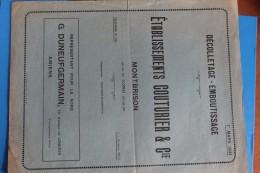 MONTBRISON     -    COUTURIER   &  CIE    DECOLLETAGE     EMBOUTISSAGE         2  PHOTOS - Reclame