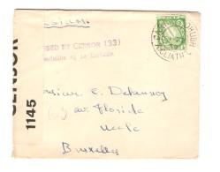 Eire-Irlande Cover 21/12/1939 Irish & English Censors To Belgium PR3008 - 1937-1949 Éire