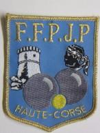 Ecusson Tissu Brodé - HAUTE-CORSE - FFPJP - PETANQUE Et Jeu Provençal - 2B - Tête De MAURE - Ecussons Tissu