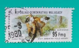 MADAGASCAR 1979 Local Wildlife. FAUNA - MONOS. USADO - USED - Madagascar (1960-...)