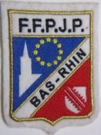 Ecusson Tissu - Feutrine Brodée - BAS-RHIN - FFPJP - PETANQUE - Département 67 - Ecussons Tissu