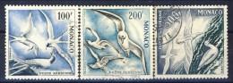 Monaco Posta Aerea 1955 Serietta N. 55-57 Uccelli Di Mare, Usati Catalogo € 74 - Posta Aerea