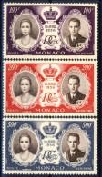 Monaco Posta Aerea 1956 Serie N. 63-65 Matrimonio Ranieri-Grace MNH Catalogo € 8,40 - Posta Aerea