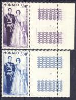 Monaco Posta Aerea 1959 Serie N. 71-72 La Coppia Principesca MNH Bordo Di Foglio,  Catalogo € 51 - Posta Aerea