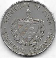 40 CENTAVOS 1962 - Cuba