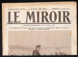 Le Miroir N°60 -  17/01/1915  -  Une Distribution De Lettres Lle 1er Janvier Chez Les Belges Modc20 - War 1914-18