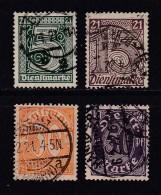 DEUTSCHES REICH, 1920, Cancelled Stamp(s), Dienstmarke (21, MI D16=D22, #16211 ,  4 Values Only - Germany