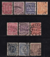 DEUTSCHES REICH, 1920, Cancelled Stamp(s), General Dienstmarken Issue,  MI D23=D33, #16214,  10 Values Only - Germany