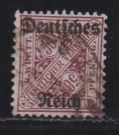 DEUTSCHES REICH, 1920, Cancelled Stamp(s), Overprints On Wuertenberg, MI D63, #16218  1 Value Only - Germany