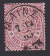 NORDDEUTSCHER POSTBEZIRK, 1868 Cancelled Stamp(s) First Issue, 3 Kreuzer  , MI 9 # 16048, - North German Conf.