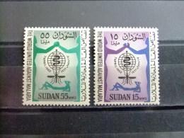 SOUDAN RÉPUBLIQUE SUDAN 1962 LUCHA CONTRA El PALUDISMO Yvert Nº 142 / 143 ** MNH - Sudan (1954-...)