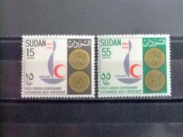 SOUDAN RÉPUBLIQUE SUDAN 1963 CROIX ROUGE Yvert Nº 160 / 161 ** MNH - Sudan (1954-...)