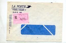 Lettre Recommandee Paris Cheques Postaux Centre 3 - Marcophilie (Lettres)