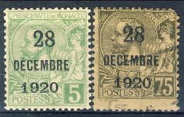 Monaco 1921 N. 48 C. 5 MLH E N. 49 C. 75 Usato Catalogo € 8,90 - Monaco