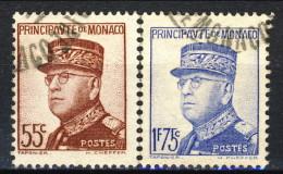 Monaco 1937 - 39 N. 159 C. 55 E N. 165 F. 1,75 Oltremare Usati Catalogo € 15,60 - Monaco