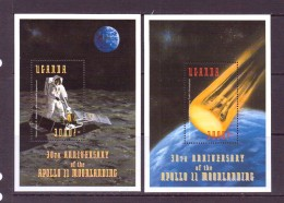 OUGANDA-UGANDA  1999 ESPACE  YVERT N°B302-306  NEUF MNH** - Space