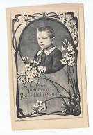 Décès Doodsprentje  Roger DE LEENHEER Namur 1899 Gand Gent 1909 Photo Spéciale Enfant Kind - Images Religieuses
