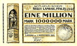 ALLEMAGNE 1000000 MARK 1923. - [ 3] 1918-1933 : République De Weimar