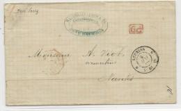 REUNION - 1869 - ENVELOPPE De SAINT DENIS Pour NANTES Par SUEZ - Réunion (1852-1975)