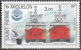 Saint-Pierre Et Miquelon 1990 Yvert 528 Neuf ** Cote (2015) 1.60 Euro Navires Saint-Denis Et Saint-Pierre - Neufs