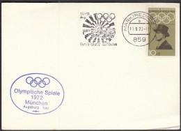 Germany Marktredwitz 11.9.1972. Olympic Games Munich 1972 / Olympic Rally '72 Kiel - Munich / Machine Stamp - Sommer 1972: München