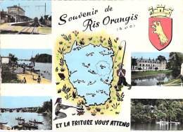 91 - RIS ORANGIS : Multivues Humoristique ... Et La Friture Vous Attends ... CPSM Dentelée GF - Essonne - Ris Orangis