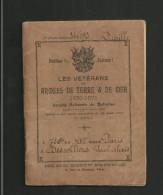 Livret Vétérans Des Armées De Terre Et Mer 1870-1871 + Timbres D'adhésion - Documents