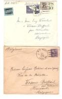 USA Caroline Islands 4 Covers Written From Ponape 1949-55-63-70 To Belgium Scarce PR3022 - Etats-Unis