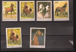 REPUBLIQUE DU BENI Nº 710BM AL 710BS - Pferde