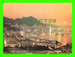 HONG KONG, CHINE - BEAUTIFUL DUSK SCENE OF VICTORIA - PUB. BY NATIONAL CO - - Chine (Hong Kong)