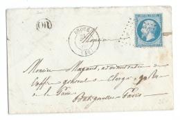 LETTRE 20 C EMPIRE   DROUÉ A PARIS GC - 1849-1876: Periodo Classico