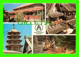 HONG KONG, CHINE - SUNG DYNASTY VILLAGE - 4 MULTIVIEWS - PUB. BY NATIONAL CO - - Chine (Hong Kong)