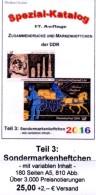 Teil 3 DDR-Katalog Sonder-Markenheftchen RICHTER 2016 Neu 25€ SMH+Abarten Booklet And Error Special Catalogue Of Germany - Literatur & Software