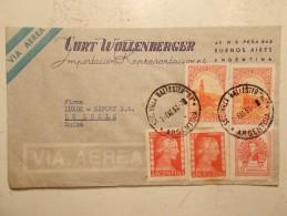 Marcophilie - Lettre Enveloppe Cachet Timbres Oblitération - ARGENTINE - 1953 (93) - Argentina