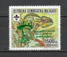MADAGASCAR N° 1262   NEUFS SANS CHARNIERE  COTE  3.00€  ANIMAUX  BADEN POWELL - Madagascar (1960-...)