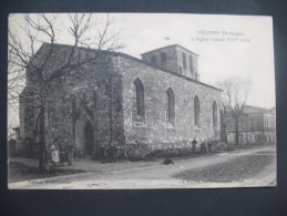 """CPA     Vélines     """" L'Eglise Romane XIII Eme Siécle  """"  Voyagé - France"""