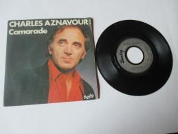 CHARLES  AZNAVOUR  ---   CAMARADE  /  TOI - You.   ---   2 Photos - Disco, Pop