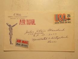 Marcophilie - Lettre Enveloppe Cachet Timbres Oblitération - USA - Indien (105) - Cartas